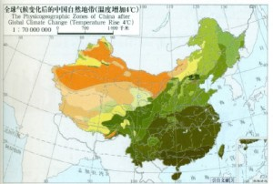 plant zones China with 4 degree warming
