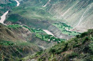 agriculture steep valley Za Chu Markham