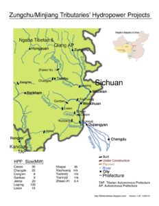 dam sites Zungchu tributaries