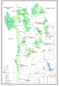 proposed hydro dams Thre Parallel Rivers official Chinese map 2015