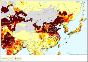 waterstreessed map of China Greenpeace 2016