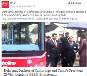 lithium Xi Jinping Cambridges on BYD bus