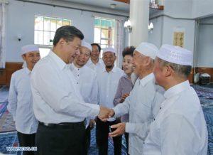 Xi Jinping in a Ningxia mosque 2016