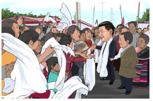 Xi greeted by the masses